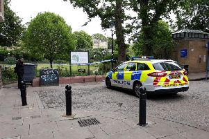 Police have closed off Brighton's Royal Pavilion gardens. Picture supplied by Eddie Mitchell