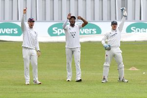 An appeal - but Sussex had to be content with a draw v Gloucs / Picture by www.yasps.co.uk