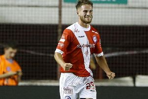 Brighton & Hove Albion's Alexis Mac Allister in action for Argentinos Juniors. Picture courtesy of Getty Images