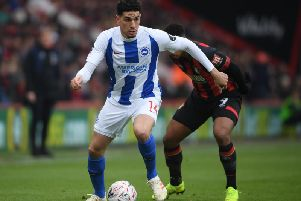 Brighton & Hove Albion's Nigerian defender Leon Balogun. All pictures courtesy of Getty Images
