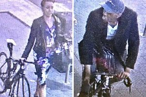 Police want to speak with this man and woman in connection with the theft of bicycles in Brighton