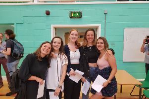 BHASVIC students picking up their A-Level results in 2018