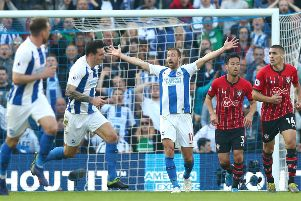 Glenn Murray is favourite to open the scoring against Southampton at the Amex on Saturday (getty)