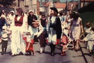 Cliff Carnival nostalgia - children and adults dressed up as fairy story characters in Navenby in the last carnival in 1980., EMN-190913-104755001
