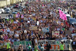 The Global Climate Strike march in Brighton SUS-190920-114941001