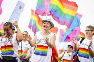 Participants in the Brighton Pride Community Parade on August 3. Photograph: Tristan Fewings/Getty Images