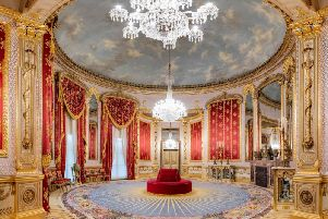 The restored saloon in the Royal Pavilion, in Brighton. Photograph: Jim Holden