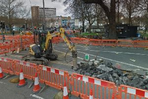 The first phase of the Valley Gardens roadworks