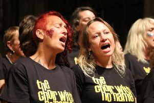 Members of the Choir With No Name Brighton have recorded single to be released on World Homeless Day