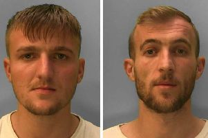 Eraldo Saraseli, 20, of no fixed address and Klaudio Ago, 27, of Bristol Gardens, Brighton, were arrested and each charged with two counts of possession with intent to supply cocaine and cannabis in Brighton. Saraseli pleaded guilty to two counts of possession with intent to supply cocaine and cannabis and possession of false identity documents, said police. He was sentenced to two years and eight months. Ago pleaded not guilty to two counts of possession with intent to supply cocaine and cannabis but admitted permitting supply of cocaine and cannabis on his premises, said police. He was also sentenced to two years and eight months.