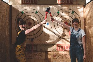 Axe throwing by Tribe