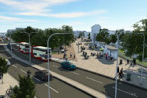 What Old Steine will look as part of phase 3 of the Valley Gardens project
