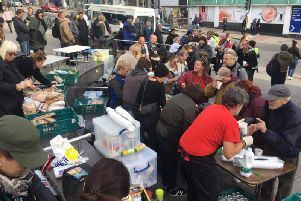 Sussex Homeless Support run a street kitchen every Sunday, at the Clock Tower, for Brighton's homeless