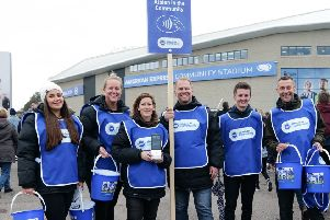 Volunteers collected over �27,000 before and after the Premier League match between Brighton and Hove Albion and Everton, Paul Hazlewood BHA-1920