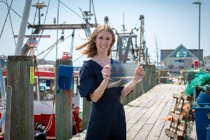 Lucy Hughes, inventor of MarinaTex. Photograph: Stuart Robinson/ The University of Sussex