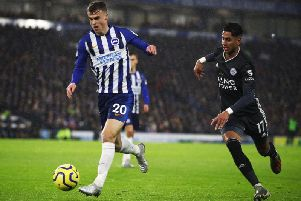 Brighton and Hove Albion midfielder Solly March underwent surgery on a groin injury earlier this week