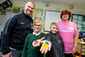 Children at Mile Oak Primary School took part in the Business in a Box day