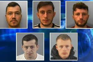 Five men have been jailed. Photo: Sussex Police