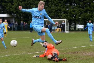 Jack Ross gave Ardley United the lead at Royal Wootton Bassett