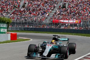Lewis Hamilton on his way to victory in Canada