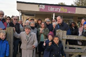 Protestors young and old are hoping to keep Middleton Cheney library open.