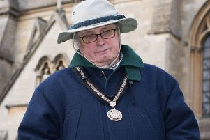 Buckingham Pancake Races - cancelled due to the weather - Pictured is mayor Jon Harvey looking disappointed
