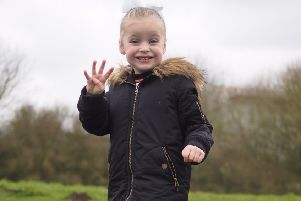 Darcy Drury completed a five mile walk for the Arabian School of Gymnastics