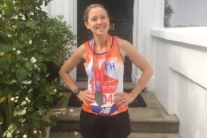 Ruth Hawkins is one of several runners from the Buckingham area who completed the London Marathon last weekend - more photos and stories are in the gallery