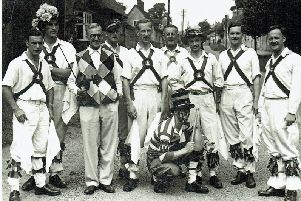 An archive photo of Whitchurch Morris Men