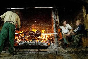 Great fire in the Tudor kitchens