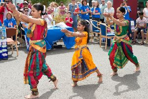Stoke Mandeville Hospital celebrates the 70th birthday of the NHS with an open day - the Sesha Natya Nikethan dance group entertain
