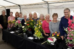 Tingewick and Water Stratford Horticultural Society Annual Summer Show. Judges and committee members. PNL-180825-171142009