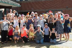 Cosine staff in their fancy dress hats - there has been an outpouring of love and support for Sharon as she fights cancer