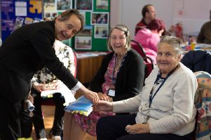 Sir Anthony Seldon, Buckinghamshire Minds Patron and Vice-Chancellor of the University of Buckingham, visited Buckinghamshire Minds Wellbeing Services in Aylesbury on World Mental Health Day (10thOctober).