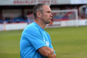 Brackley Town manager Kevin Wilkin manager saw his side frustrated at Leamington