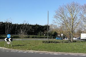The camera-less post on Lace Hill roundabout