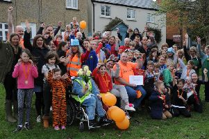 Participants gather together in Gawcott ahead of the charity run in aid of Alec's Angels