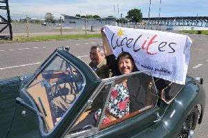 Last year, Simone stopped at Silverstone as part of her charity road trip