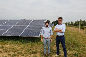 Tom Cosgrove (left) development manager of Gawcott Community Solar Farm and Jake Burnyeat, managing director at Communities for Renewables CIC