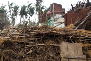 The damage caused by Cyclone Fani in Odisha, India