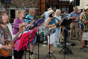 The Buckingham Ukelele Group performing at last year's civic day celebrations in town