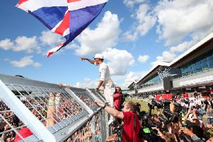 Five more years of the British Grand Prix at Silverstone - how many more will Lewis Hamilton win? Photo: Getty Images