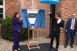 Opening of the Centre for United Nations Studies at the University of Buckingham - pictured is the president of the UN General Assembly Maria Fernanda Espinosa with Sir Anthony Seldon, vice-chancellor of the university