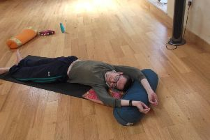 Reporter Neil Shefferd tries out yin yoga
