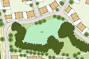 An artist's impression of the proposed development at Great Horwood Road, Winslow