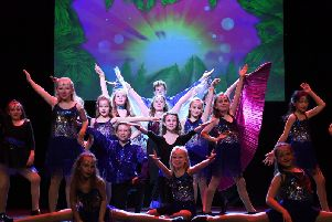 Stagecoach Buckingham pupils performing at the Adelphi Theatre, London
