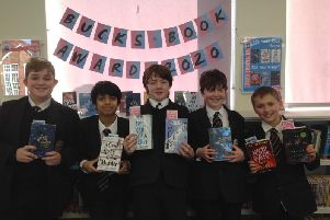 Year 8 students at Aylesbury Grammar School with the nominated books