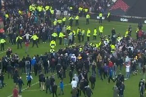 Crowd disorder following the MK Dons v Mansfield game in May