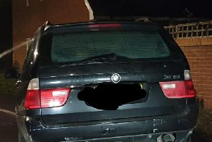 Picture of stolen vehicle tweeted by Thames Valley Police