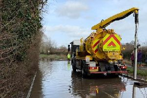 Bucks County Council gully clearing machine